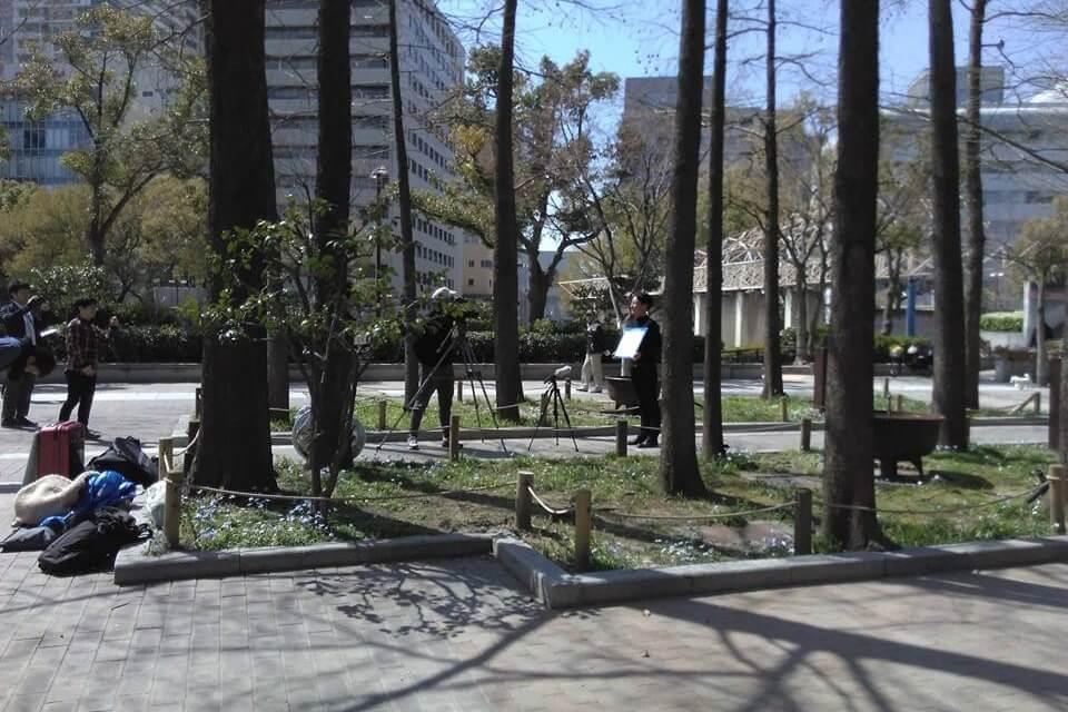 神戸市・神戸都市ビジョン1000SMiLE撮影中