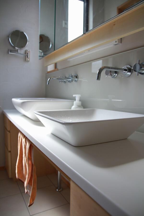 スペースを有効利用した洗面所