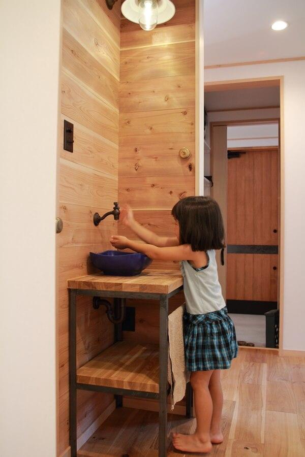 子育て住宅の手洗い