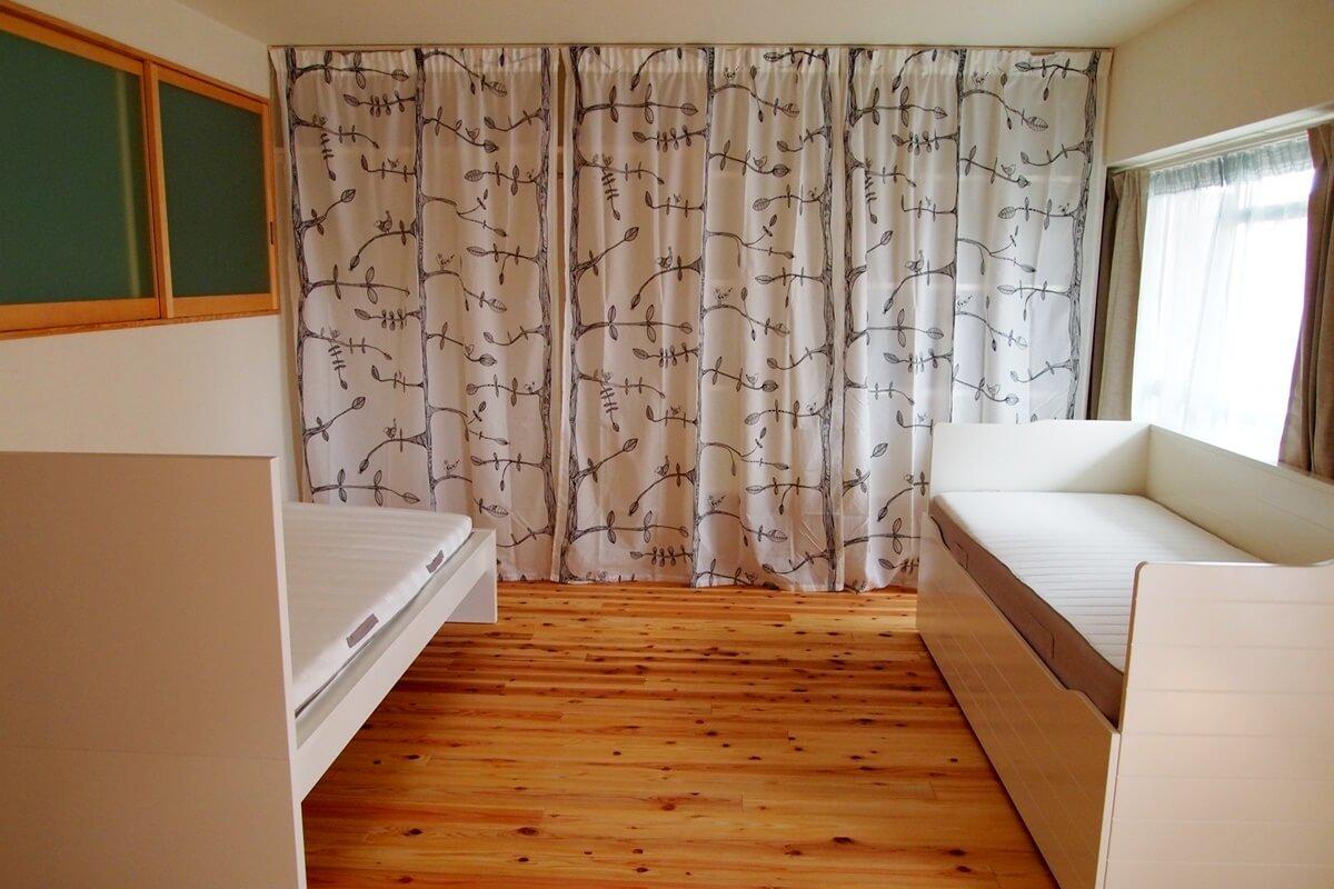 デイベッド+ベッドのプライベートゾーン