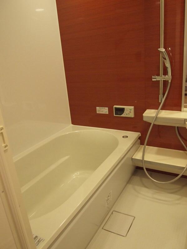 アクセントウォールの浴室