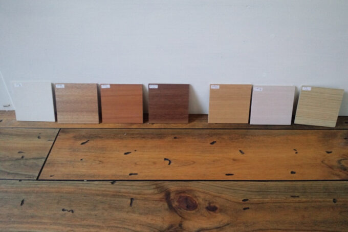 家具の面材をセレクト
