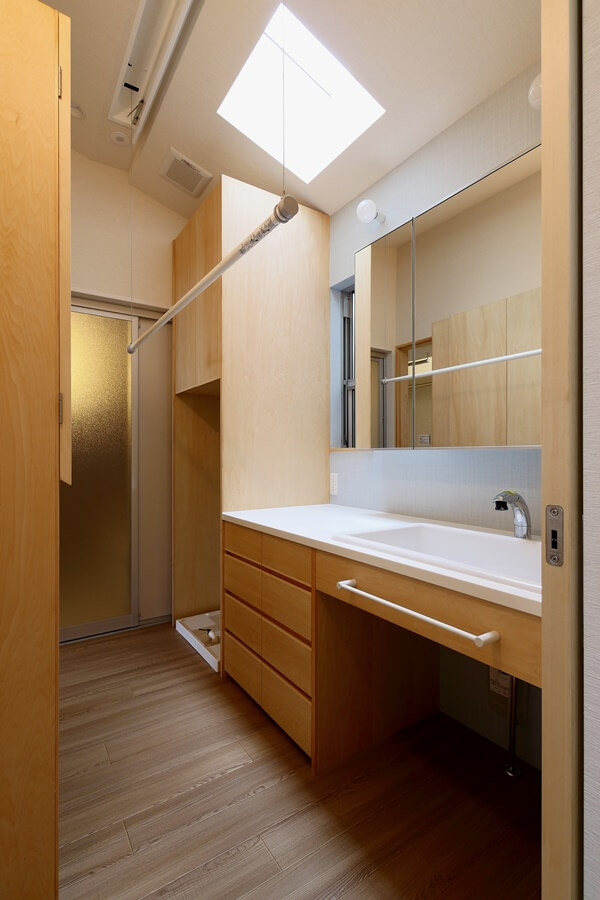 洗面所の部屋干しユニットホシ姫サマ