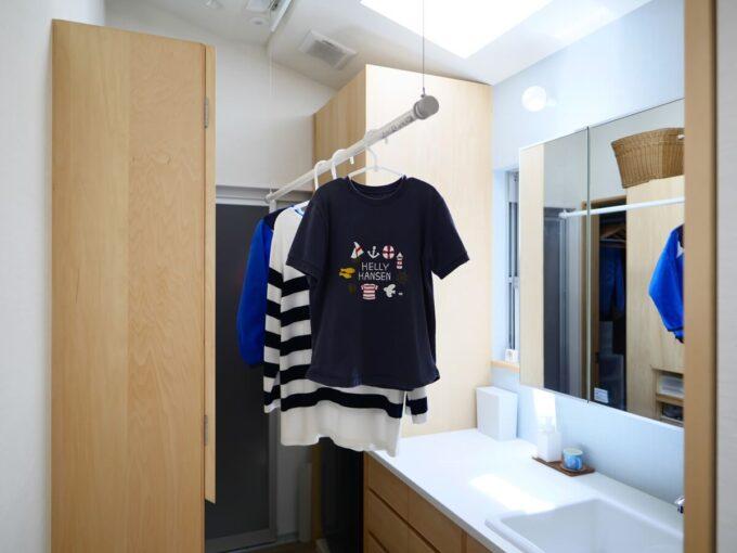 家事動線の良い洗面所