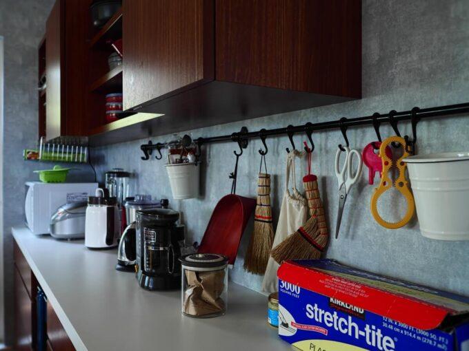 片付けやすさを考えたキッチン背面収納